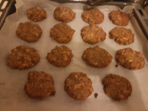 Sugar-Free Oat Honey Apple and Nut Butter Cookies