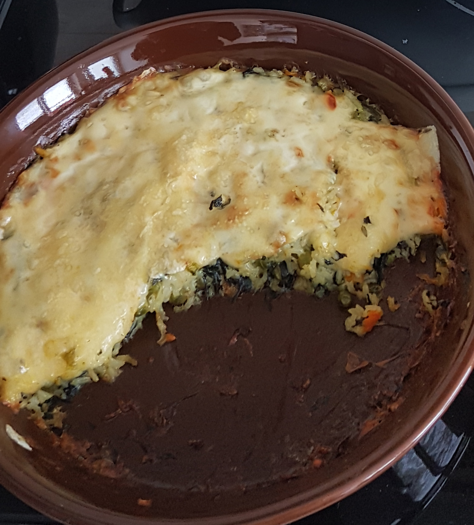vegetable peas cheese rice
